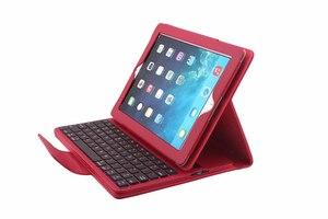 Image 3 - Odłącz bezprzewodowy futerał na klawiaturę Bluetooth dla Apple iPad 2 3 4 iPad2 iPad3 iPad4 9.7 pokrowiec z osłoną ekranu Film rysik