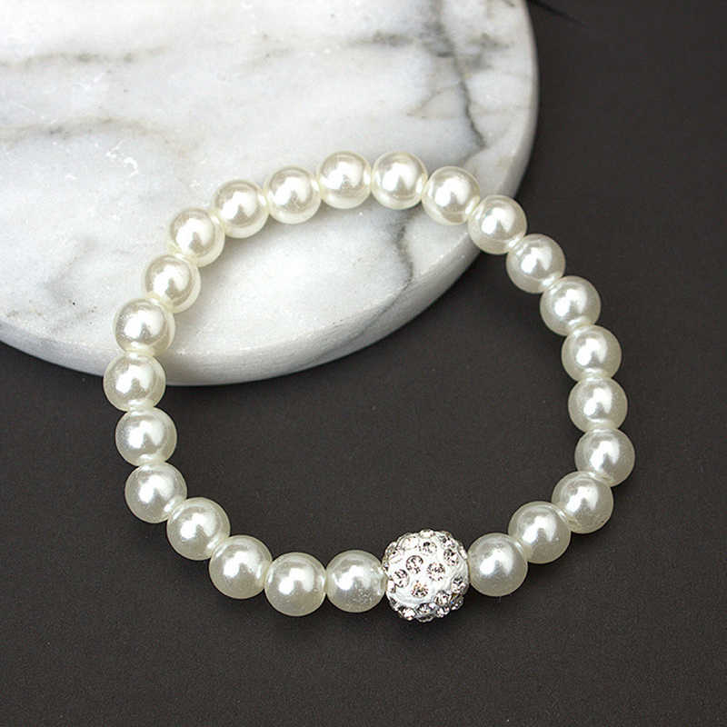 Pearl Jewelry Sets For Women Fashion Elegant Pearl Beads Wedding Bridal Necklace Earring Bracelet Costume Luxury Jewelery