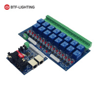 16CH Relay Switch dmx512 DMX Controller Relay Output 16way Relay Switch (max 10A) High Voltage Led Lights
