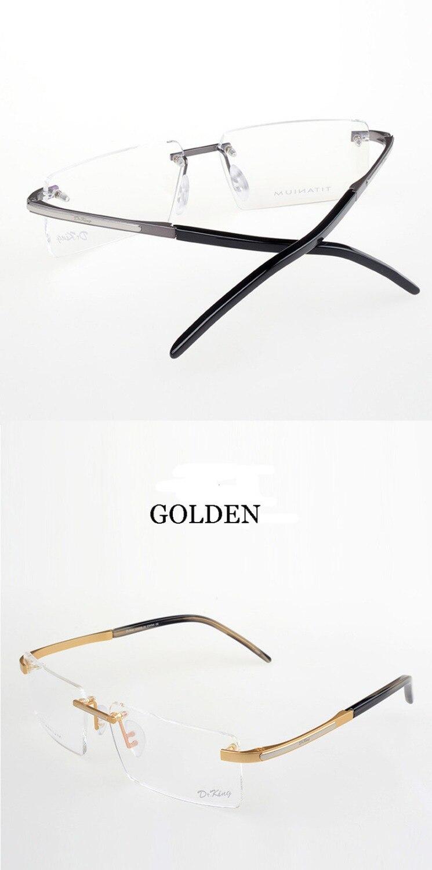 Vintage klassische gold randlos reinem titan optische verordnung ...
