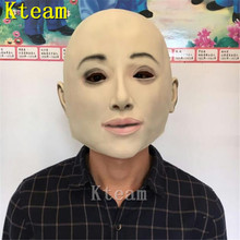 Top Quality Realistic Female Mask Halloween Human Masquerade Latex Party Sexy Girl Crossdress Costume Cosplay