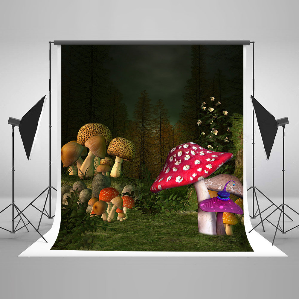 Kate Forest Photography Backdrops Mushroom Children Backgrounds For Photo Studio Newborn Cotton Washable Digital Backdrops 1pc 150w 220v 5500k e27 photo studio bulb video light photography daylight lamp for digital camera photography