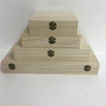 wood wooden Storage box for cosmetics desktop storage gift box lockable