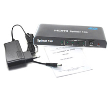 BrankBass Полный HD1080p 4 порта HDMI Splitter 1X4 с адаптером питания HDMI 1.4 видео аудио коммутатор конвертер