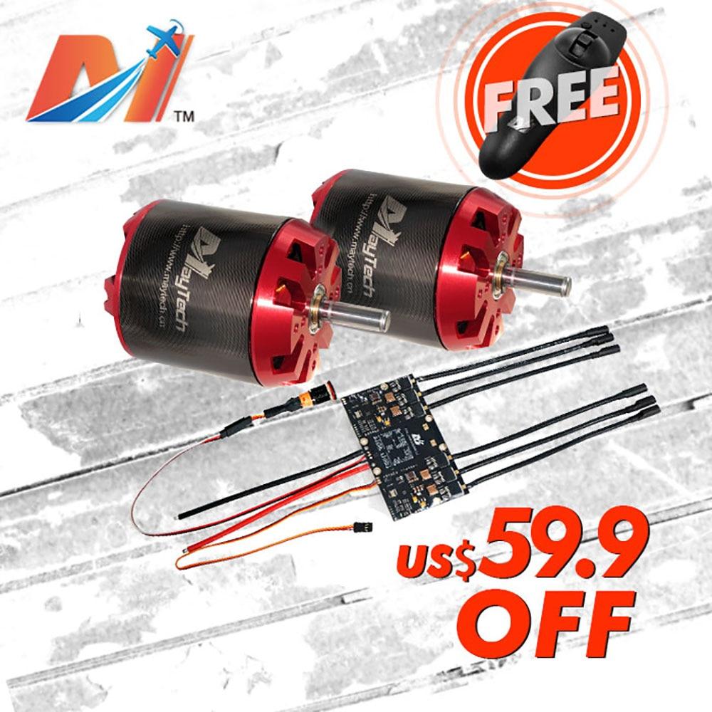 Maytech Black Friday SALE 6374 170KV electric powered skateboard motor dual ESC based on VESC controller