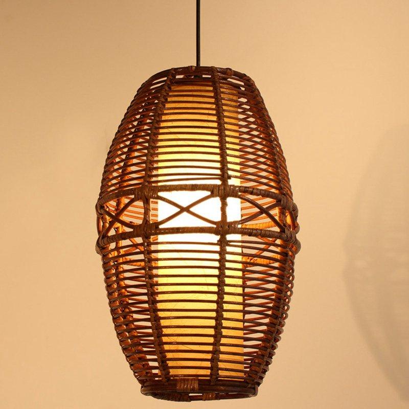 Kézzel készített Rattan szalon függõ lámpa modern, - Beltéri világítás