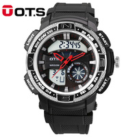 New Arrivals Top Brand OTS Cool Black Fashion Large Face LED Digital Watch Mens Swimming Climbing Outdoor Man Sports Watches