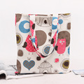 YILE Cotton Canvas Shopping Tote Shoulder Carrying Bag Eco Reusable Bag Print Owls & Moon Love Heart Bird Cage NEW L