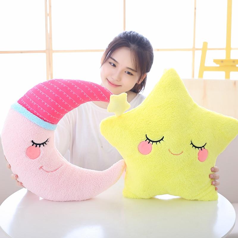Independent Emoji Cloud Shaped Plush Pillow Bowknot Rainbow Cloud Soft Stuffed Pillow Decorative Throw Pillow Sofa Chair Pink Blue White Toys & Hobbies