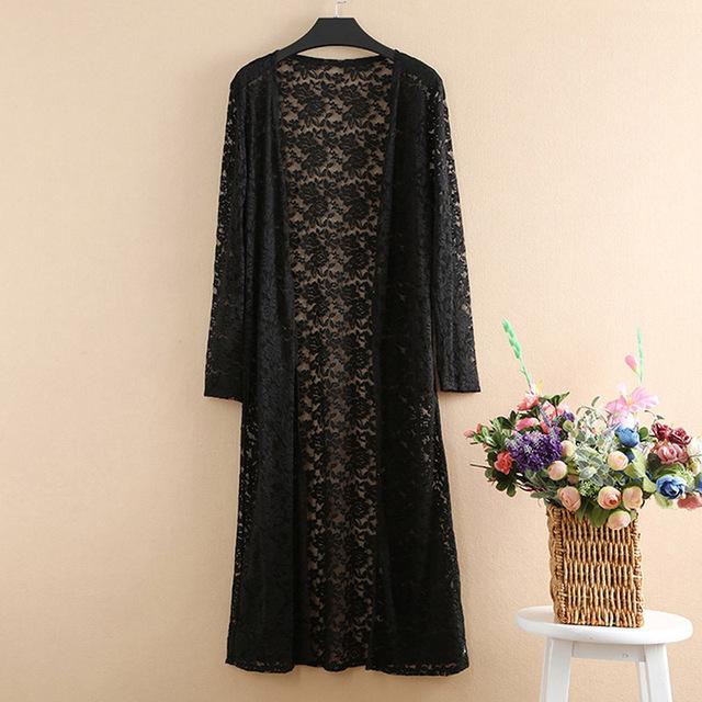 Shawl Tops Women's Shirt Summer Chiffon Long Cardigan Women Floral Printed Casual Blouse