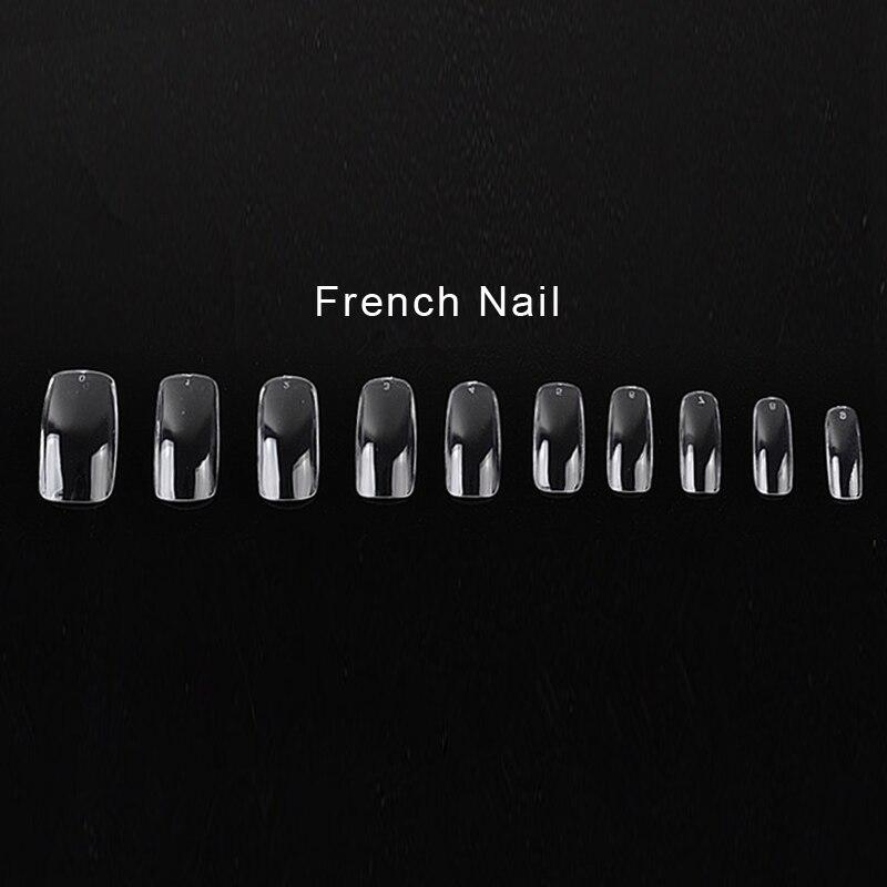 NEW 500 PCS Clear False Acrylic UV Gel Full Half French Tran