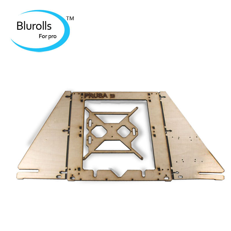 3d printer parts reprap mendel prusa I3 laser cut frame wooden in 6mm plywood free shipping frame housing made of basswood