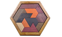 New Wooden Baby Toys Hexagon intelligence jigsaw puzzle Educational Gifts