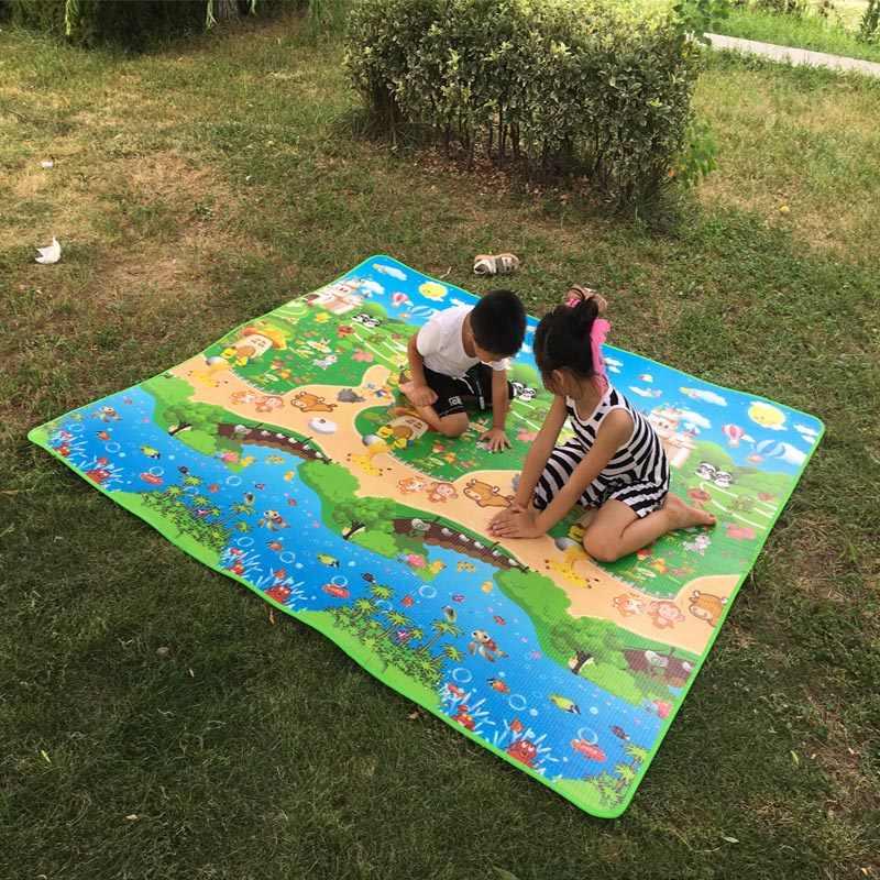 Детские блестящие детские игрушки ползающие головоломки тонкие игровые коврики 150X180X0,5 см двухсторонние Детские ползунки Pad толстые игры Juguetes Bebe ковер