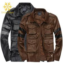 NEW Spring Fashion Patchwork Mens Coat Leather Quality Durable Overcoat Jacket Hot Bomber Faux Jackets COML15