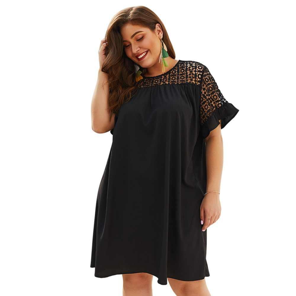 WHZHM знаменитости Черный Jurk сексуальный о-вырез плюс размер 3XL 4XL Платье женское Vestido повседневное вечернее, элегантное, для вечеринок лоскутное женское платье