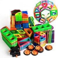 103pcs 133pcs Kids Enlighten 3D DIY Magnetic Bricks Toys Educational Construction Designer Building Blocks Christmas Gift
