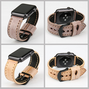 Image 5 - MAIKES Special Leather Watchband Replacement For Apple Watch Band 44mm 40mm / 42mm 38mm Series 4 3 2 All Models Watch Strap