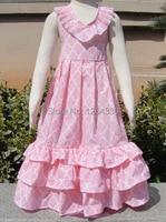 Retail New 2015 Summer Baby Girl Dress Cotton Girls Plaid Kids Dress Tutu Girl Party Dress