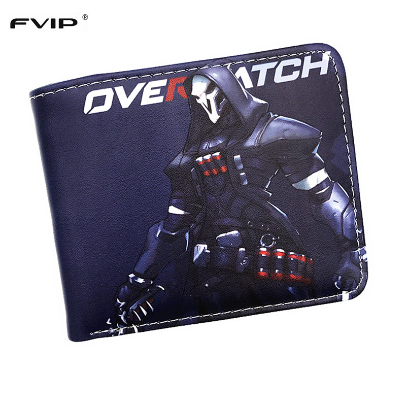 FVIP New Arrival Coin Purse Overwatch Wallet OW Fashion Reaper Mccree Genji D.VA Tracer Ana Bastion Short Men Women Wallet hot anime wallets overwatch student wallet men and women casual short wallet cartoon fashion coin purse genji hanzo tracer