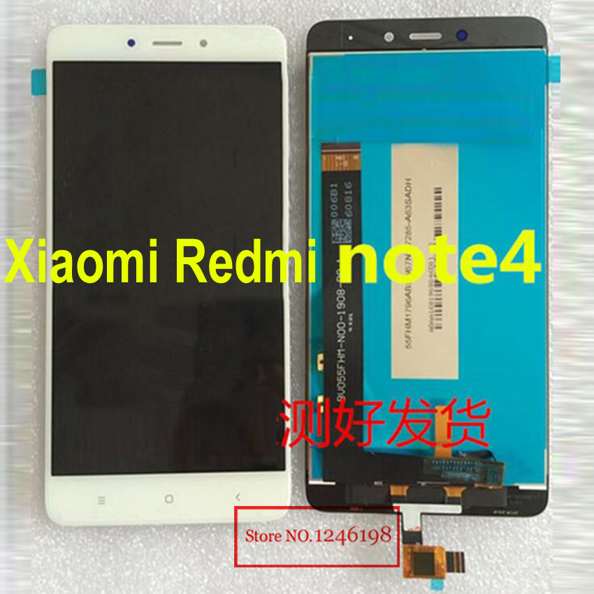 Black/White 5.5″ LCD Display + Touch Screen Panel Digitizer Assembly For Xiaomi Hongmi Note 4 / Redmi note 4 note4 Prime Parts