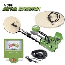 MD88 recherche détecteur de métaux souterrain professionnel détecteur d'or câblage chasseur de trésor écran LCD détecter profondeur 5 m 2 bobines