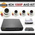 1280*720 P HD 2500TVL Sistema 1080 P HDMI de Vídeo del CCTV de Vigilancia de Cámaras de Seguridad de Interior Kit de 4CH DVR AHD Conjunto de cámara