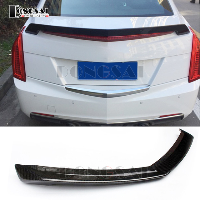 Carbon Fiber Spoiler Rear Bumper Tail Trunk V Model for Cadillac ATS 4-door Sedan : cadillac door - pezcame.com