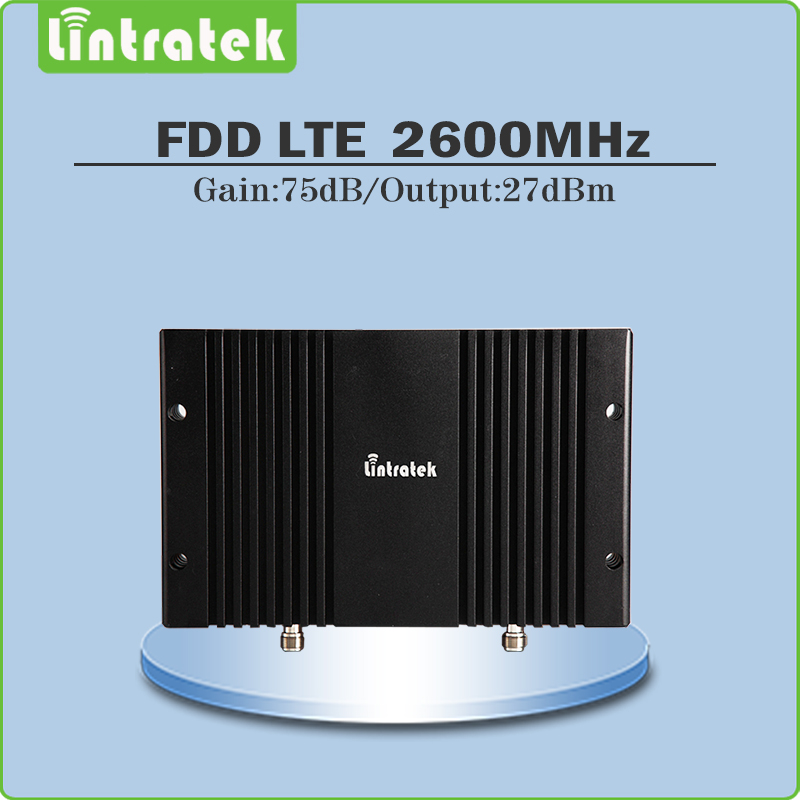 Big Power Gain 75dB 4g lte cell phone signal booster repetidor de celular 4g lte 2600mhz (FDD Band 7) Mobile signal Repeater