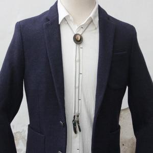 Image 4 - Original design bolotie edelstahl seil legierung hut bolo krawatte für männer persönlichkeit krawatte fashion zubehör
