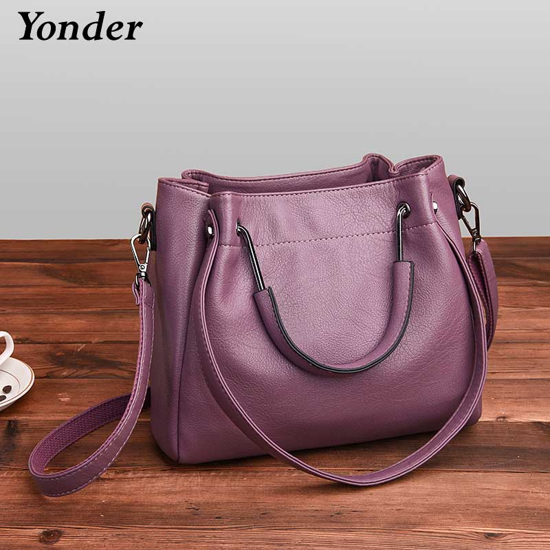 Yonder new fashion women handbag genuine leather tote bag ladies shoulder bag female crossbody messenger bag