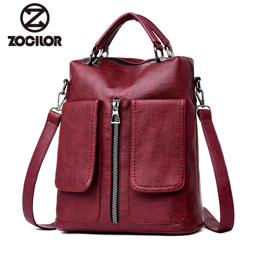 2018 soft Women Backpacks Women's pu Leather Backpacks Female school backpack women Shoulder bags for teenage girls Travel Back сумки gera сумка