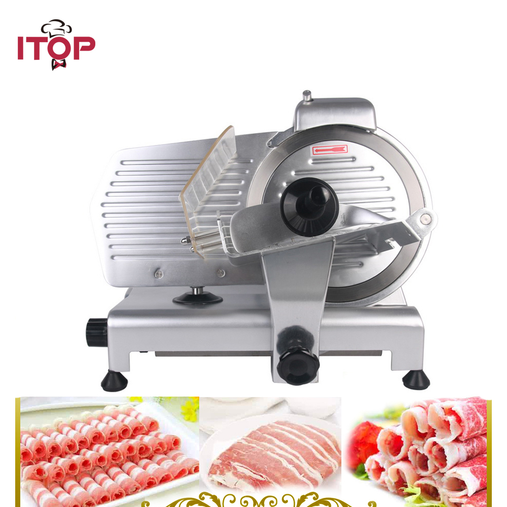 ITOP 10 Blade Commercial Meat Slicer Electric Deli Slicer Veggies Cutter Kitchen Cutting Machine 110V only for USA blade for meat cutting machine food processors with blade knife for commercial or home use qw