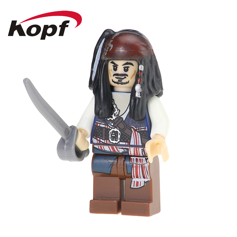 PG1000 Building Blocks Pirates of the Caribbean Lesaro Captain Jack Davy Jones Figures S ...