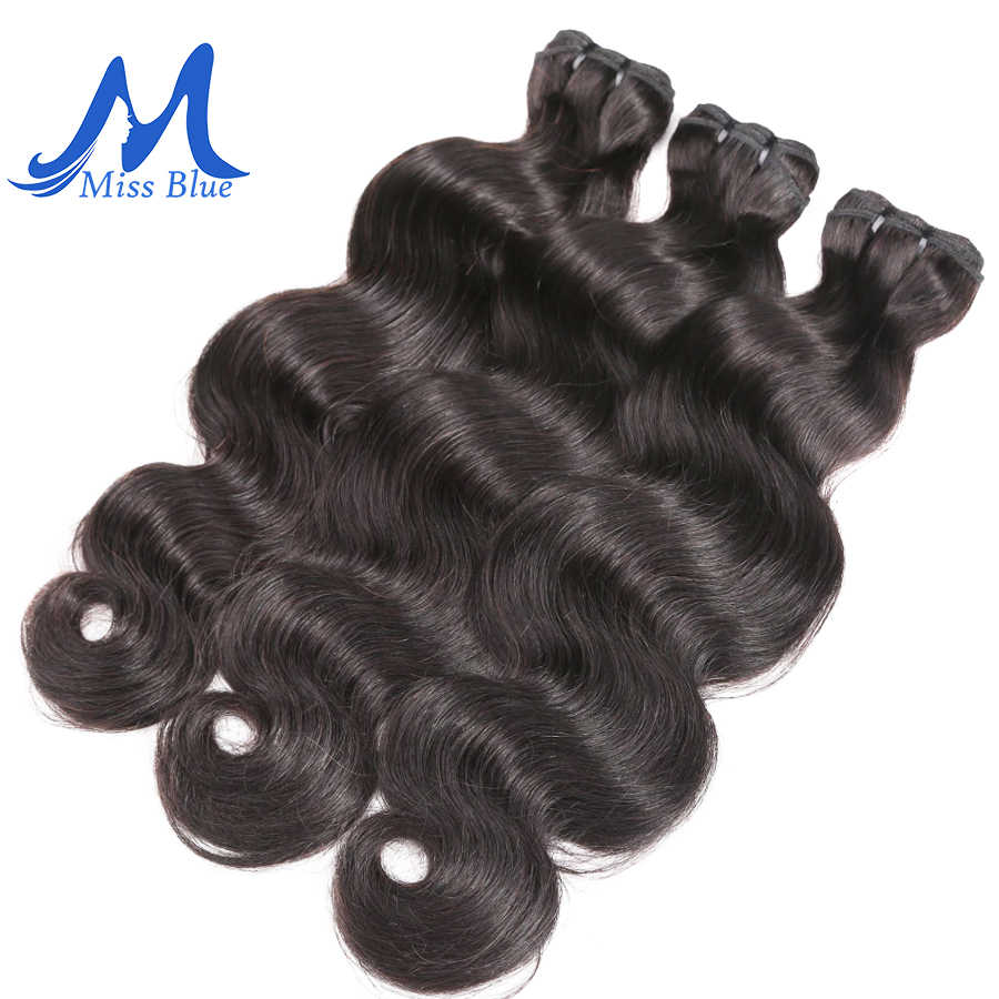 Missblue Raw Indian Virgin Hair Bundles Body Wave Grade 10A Indian Human Hair Weave Bundles Extension 1 3 4 P/Lots Free Shipping
