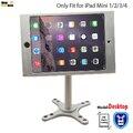 Ajuste para ipad mini1 2 3 4 caja de metal de montaje en pared soporte exhibición de la tienda al por menor soporte de tablet pc lock holder soporte Ajustar el ángulo