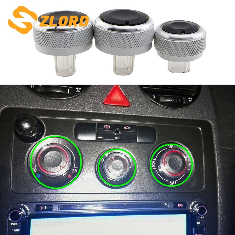Zlord Air Condition Heat Control Switch AC Knob For VW Jetta MK6 Bora Golf 5 Tiguan Touran Passta B6 B7 For Skoda Octavia