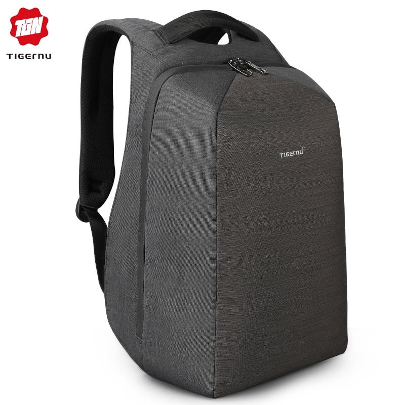 Tigernu USB Charge Anti Theft Lock Backpacks for Male 2019 Waterproof Laptop Men Backpacks for Teenager