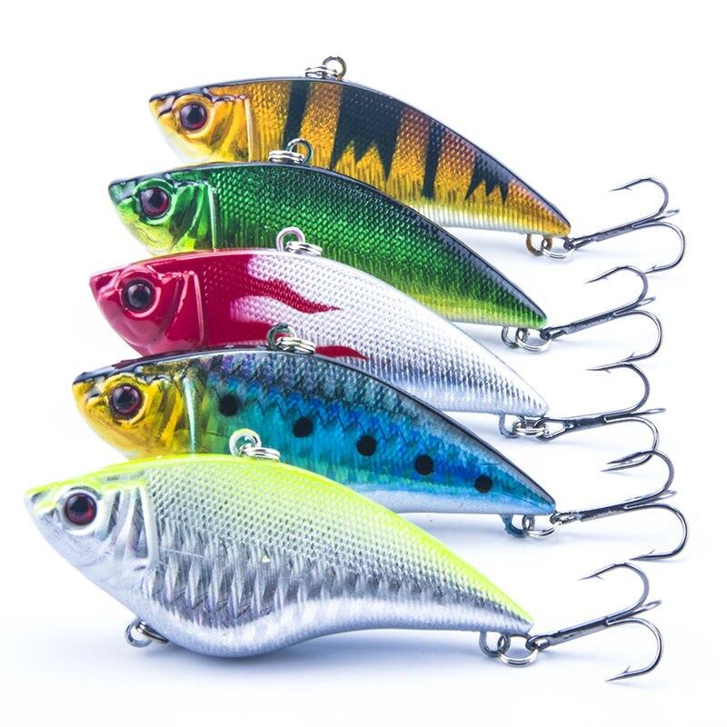 5 UNIDS/LOTE Duro Señuelo de la Pesca 5 Colores VIB Rattlin Gancho Señuelos de P