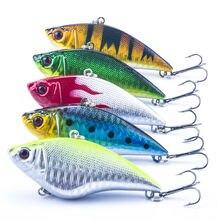 5 шт./лот жесткий рыболовную приманку 5 цвета VIB Rattlin крюк рыбалка 7 см 16 г тонущий вибр Rattlin Hooktion приманки провернуть