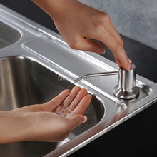 Бесплатная доставка из нержавеющей стали кухонная раковина столешницу мыла встроенный в руки мыла насос, Большой Ёмкость 13 унц. Bot