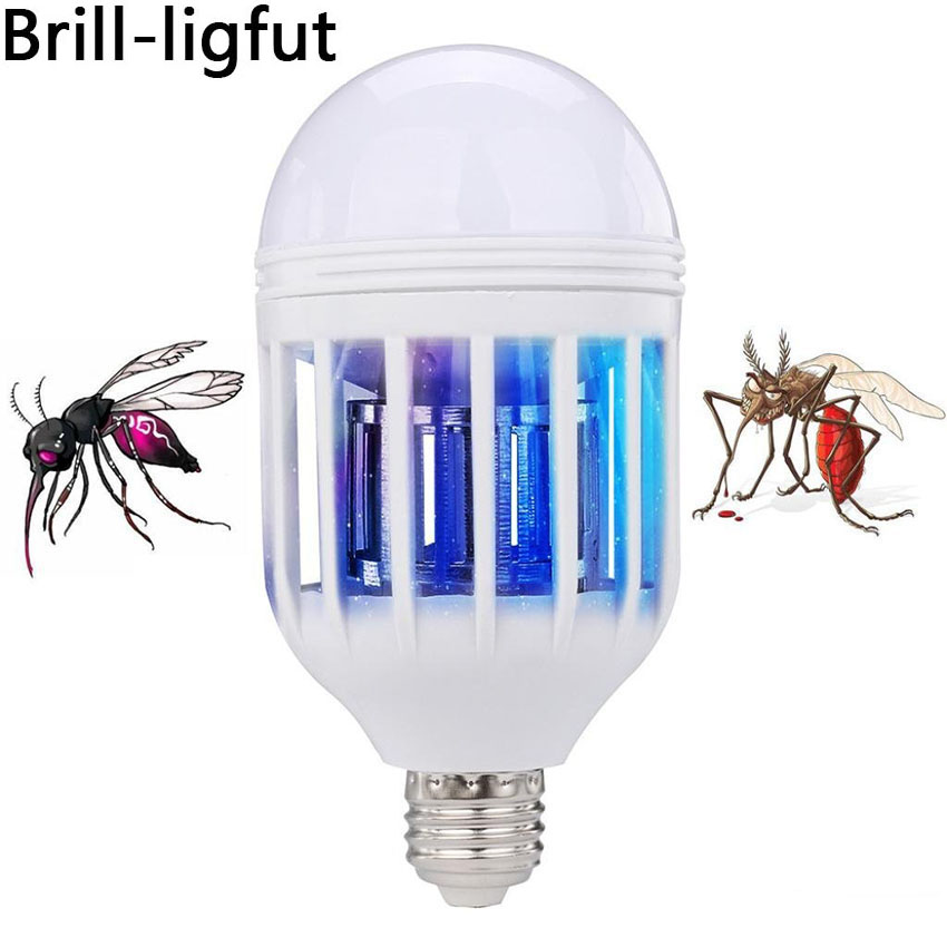 LED Bulb E27 15W 1000LM 6500K Anti-Mosquito Lamp Insect Zapper Flying Moths Killer Light Lamp 110V/220V Anti-Mosquito Repeller