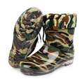Camouflage Rain Boots 2016 Winter Snow Boots Wateproof Non-slip Men Shoes Cheap Price Work Shoes Plush botas militares X080109