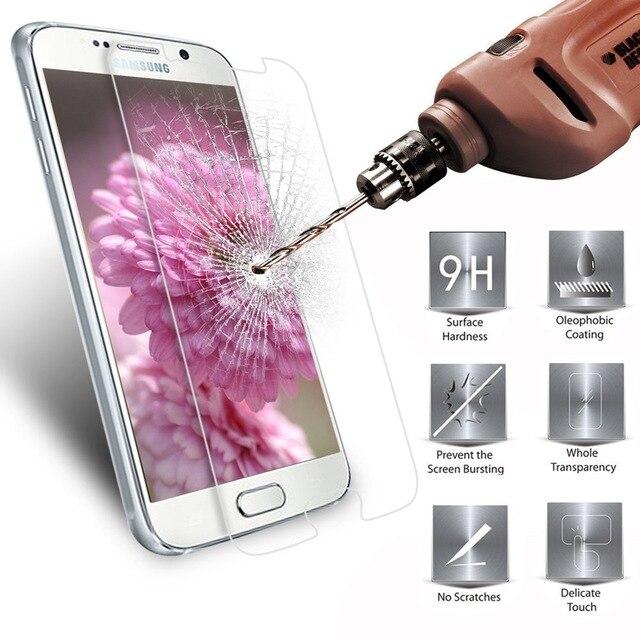 Galleria fotografica Tempered Glass For Samsung Galaxy S6 S5 Neo S3 S4 J5 J1 J7 J3 2016 J320 Core Prime G360 G361F Grand Prime for SM G530 G531 G531H