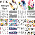 STZ249-330 82pcs/Sets New 2016 Nail Art Sticker Watermark Flower/Cartoon/Lace Fashion Tips Decals for Women Nail Tools