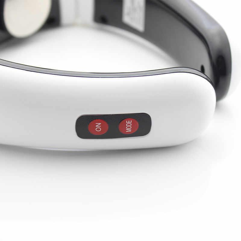 Elektrische puls Terug en Hals massager. Halswervel Behandeling Instrument. Acupunctuur magnetische therapie. nekkussen stimulator