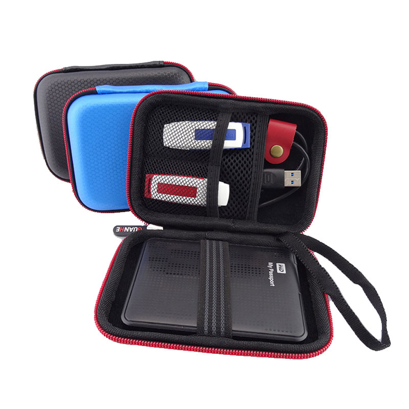 Noul portabil pătrat HDD de stocare Bag Organizator pentru 2,5