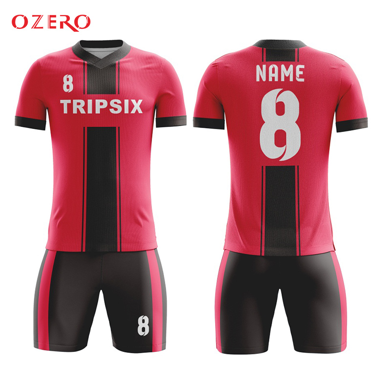 3adae764379 cheap child kids aisa black and red soccer jersey set uniform-in Soccer  Jerseys from Sports & Entertainment on Aliexpress.com | Alibaba Group
