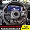 Руль из углеродного волокна для гольфа 7 GTI Golf R MK7 Jetta Passat Polo GTI Scirocco 2014-2018 Замена горячая Распродажа хорошее качество