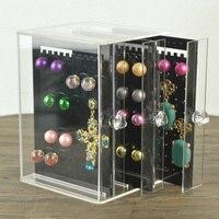 Mordoa Dustproof Transparent/black Acrylic C36 Jewelry Storage Holer Box Women Earrings Display Stand Rack Wedding Decoration